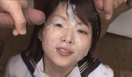 Asami - Schoolgirl Asami with 40 facial scrapered dicks (2012/Urabukkake.com/SD)