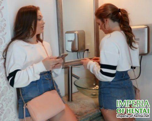 Masha and Dasha fucked guys in the toilet